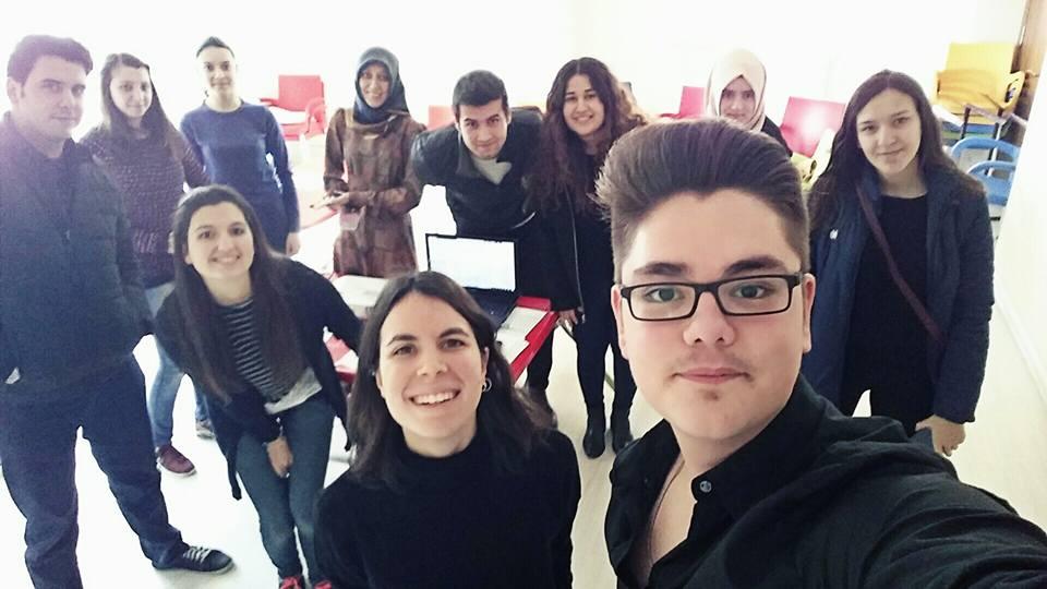 Con los alumnos